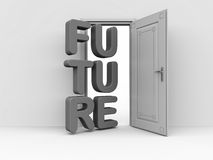 Door to the future Stock Images