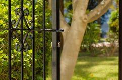 Door to the garden Stock Images