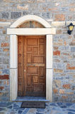 Door to Greek Orthodox Church Stock Image