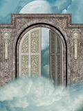 Door to the heaven. With moon Royalty Free Stock Photography