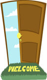 Door to heaven!. You'd never thought to find that opening this door Stock Photography