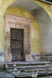 Door to heaven. Door - Lutheran church in Biertan, Romania Royalty Free Stock Photography