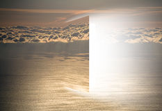 Door to heaven with sea and sun Stock Photography