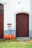 Door to house in Holasovice, Czech republic Stock Photo