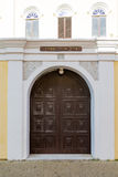 Door to Jewish Temple on Curacao Stock Photo