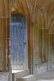 Door to Lacock Abbey Cloisters Royalty Free Stock Photography