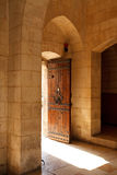 Door to the library stock photography