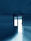 Door to Light. A conceptual picture of a door leading to the divine light Royalty Free Stock Photos