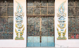 Door to monastery in Myanmar Royalty Free Stock Photos