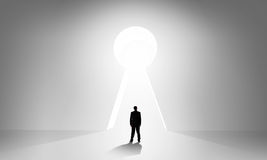 Door to new opportunities Stock Photo