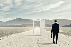 Door to new opportunity Royalty Free Stock Photo
