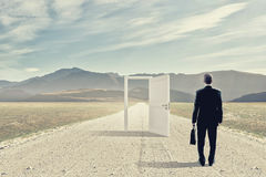 Door to new opportunity Royalty Free Stock Images