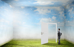 Door to new opportunity Royalty Free Stock Image