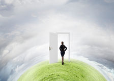 Door to new opportunity Stock Photos