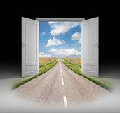 Door to a new reality Stock Photo