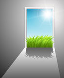 Door to the new world royalty free illustration