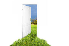 Door to new world. Easy editable image Royalty Free Stock Image