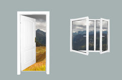 Door to new world Royalty Free Stock Photography