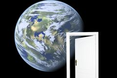 Door to new world. Stock Image