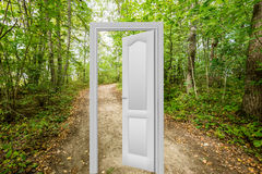 Door to a new world. Nature scenes with doorway to a new world. easy to edit image Royalty Free Stock Photo