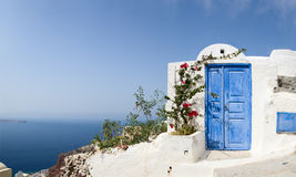 Door to nowhere. One of symbols of Greek island Santorini Royalty Free Stock Image