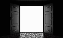 Door to nowhere. 3d illustration Door to nowhere Stock Image