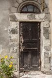Door to the old house Stock Images