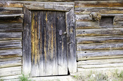The door to the old wooden barn. Stock Photography