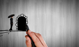 Door to opportunities Royalty Free Stock Photos