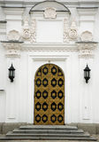 Door to Orthodox church in Kyiv Pecherska lavra Stock Photo
