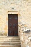 Door to palace of Kokorin castle Stock Photos