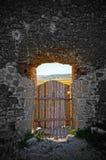 The door to paradise. Door to new world. The door to paradise Stock Photos