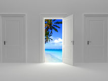 Door to paradise Stock Photo