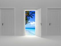 Door to paradise vector illustration