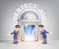 Door to Perfect Job and Doormen Royalty Free Stock Images