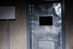 Door to the prison cell Royalty Free Stock Photo