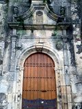 Door to a Romanesque Church in Spain Stock Photography