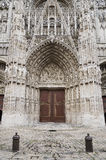 Door to rouen cathedral in north france Royalty Free Stock Photos