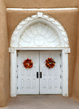 Door to the San Francisco de Asis Church in Taos, Mew Mexico Royalty Free Stock Photography