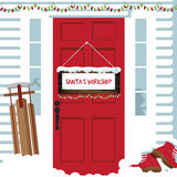 The door to Santa�s workshop Royalty Free Stock Images