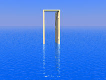 Door to sea Royalty Free Stock Photography