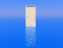 Door to sea Royalty Free Stock Image