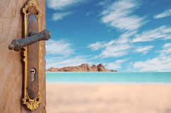 Door to sea and serenity Royalty Free Stock Photography