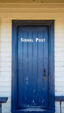Door to Signal Post in Old Halifax Fort Royalty Free Stock Photo