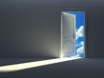 Door to the sky. Conceptual 3d image, door to the sky Stock Illustration