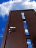 Door to sky. Input in the future stock image