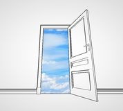 Door to sky Stock Image