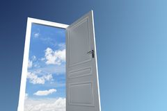 Door to sky Royalty Free Stock Images