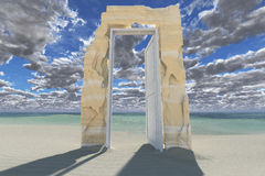 Door to soul(3D rendering) Royalty Free Stock Photography
