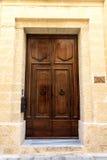 The door to St.Peter's Manastery. In Mdina, Malta Stock Photos